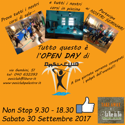 Open Day Palestra Oasi Club Trieste