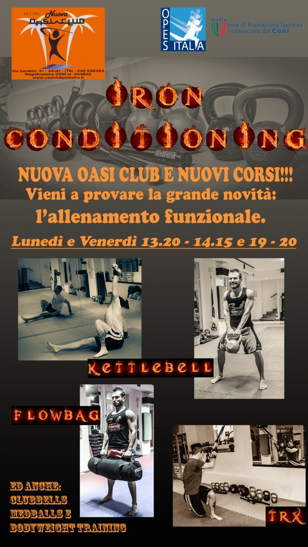 locandina iron conditioning